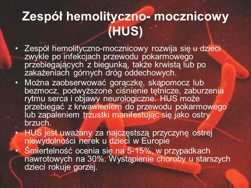 Zespół hemolityczno- mocznicowy (HUS)