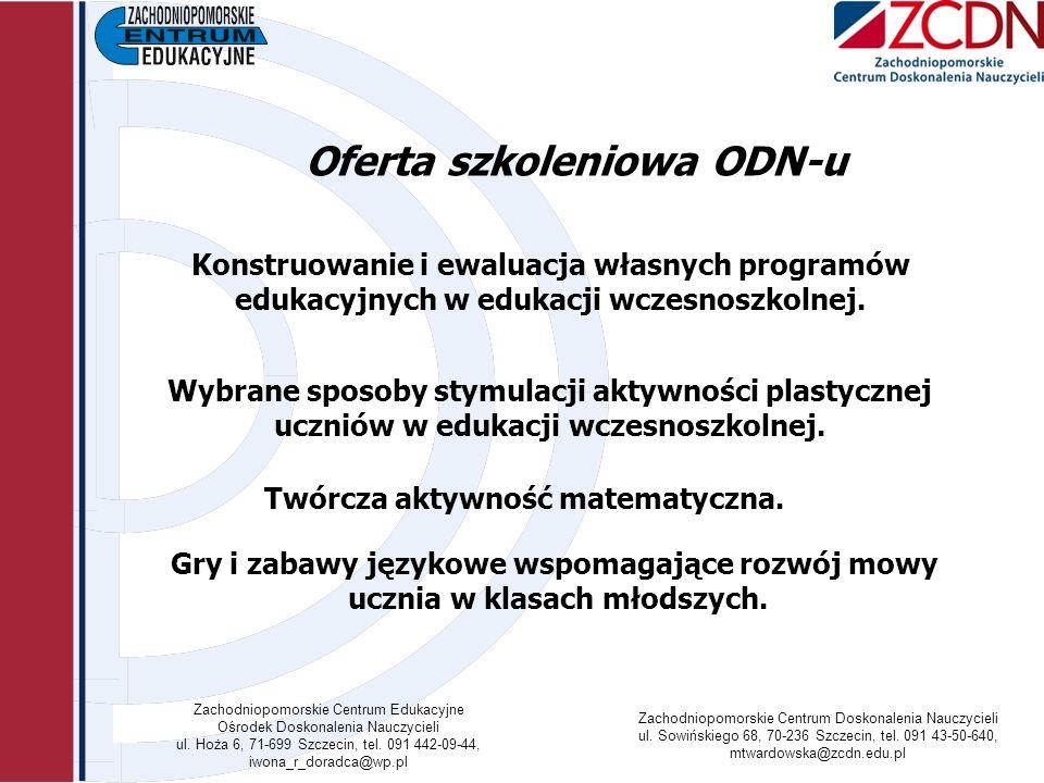Oferta szkoleniowa ODN-u