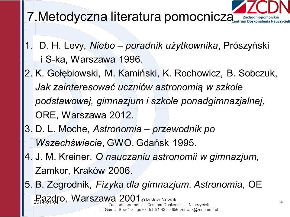 7.Metodyczna literatura pomocnicza