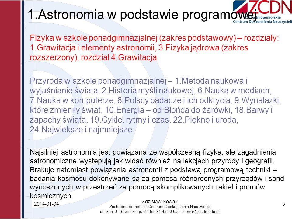 1.Astronomia w podstawie programowej