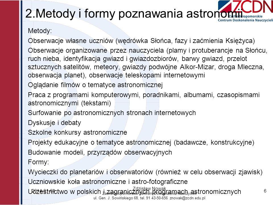 2.Metody i formy poznawania astronomii