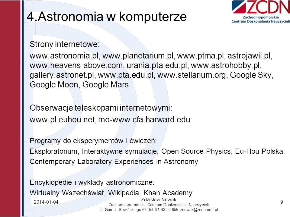 4.Astronomia w komputerze
