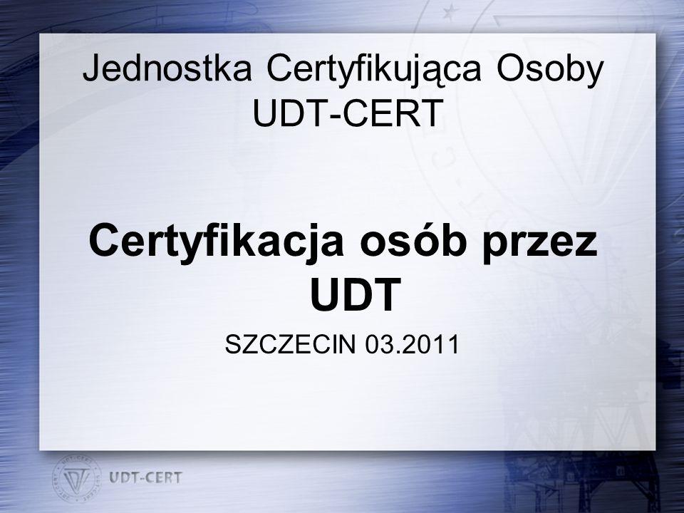 Jednostka Certyfikująca Osoby UDT-CERT