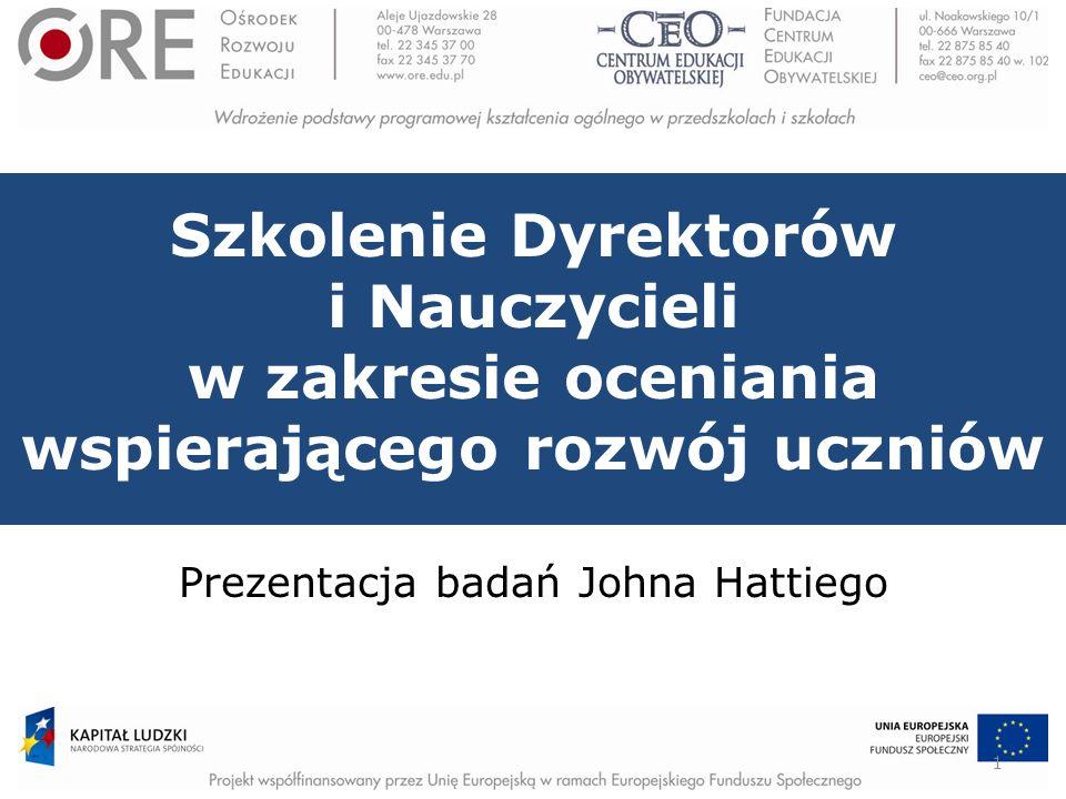 Prezentacja badań Johna Hattiego