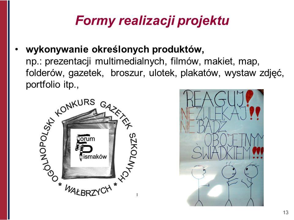 Formy realizacji projektu