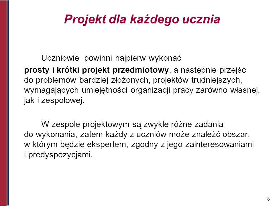 Projekt dla każdego ucznia