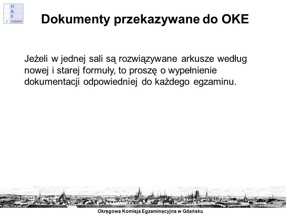Dokumenty przekazywane do OKE