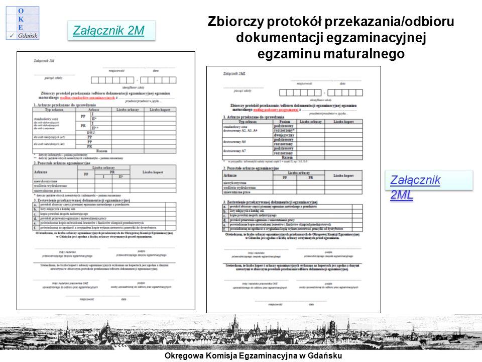 Zbiorczy protokół przekazania/odbioru dokumentacji egzaminacyjnej egzaminu maturalnego