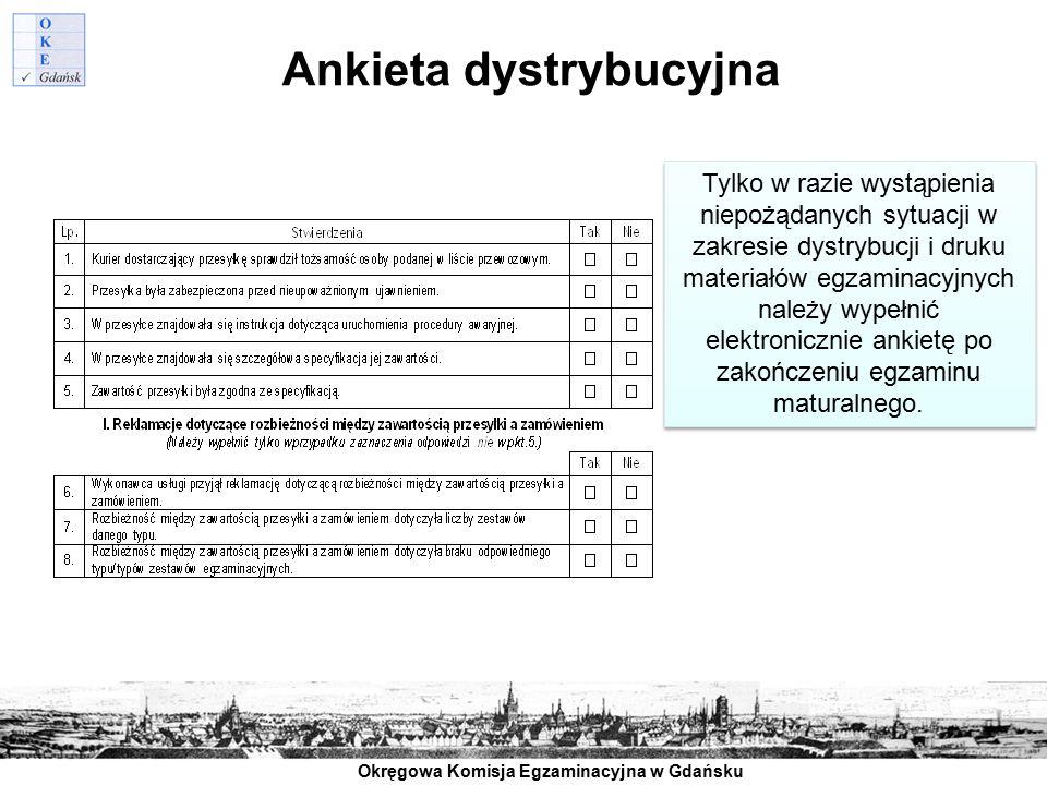 Ankieta dystrybucyjna