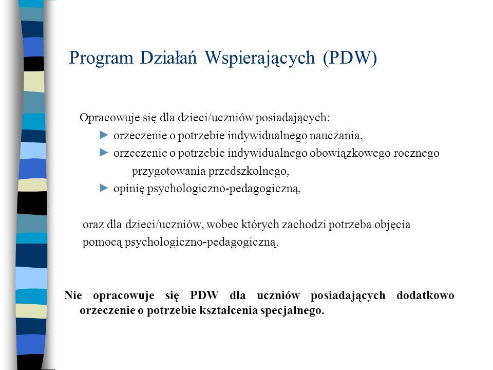 Program Działań Wspierających (PDW)