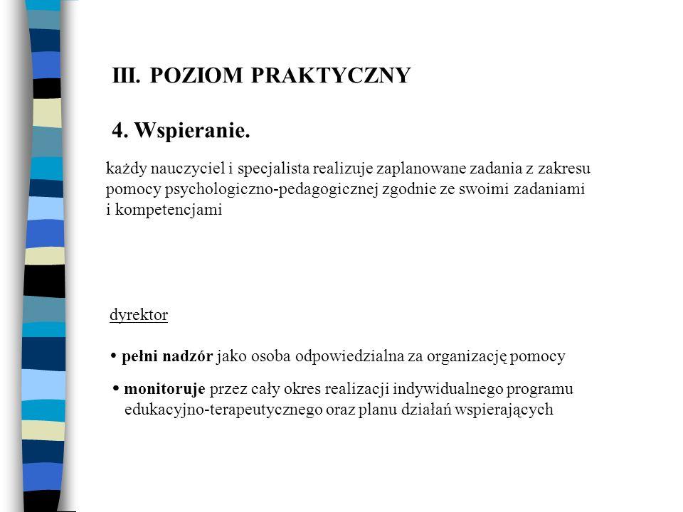 III. POZIOM PRAKTYCZNY 4. Wspieranie.
