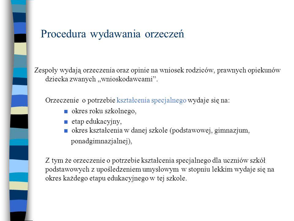 Procedura wydawania orzeczeń