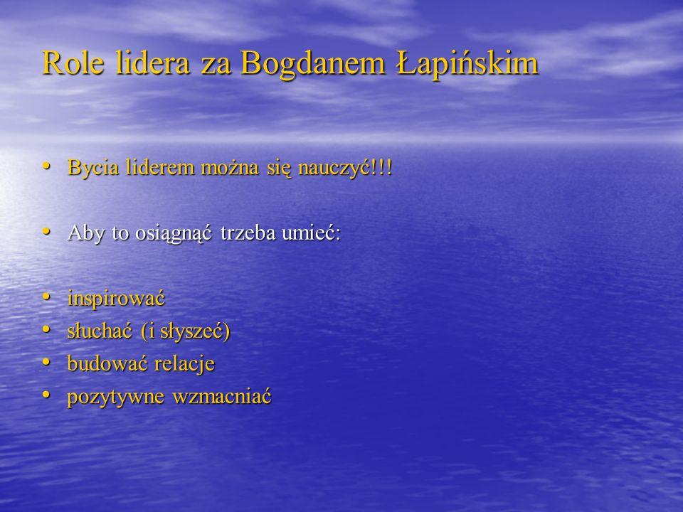 Role lidera za Bogdanem Łapińskim