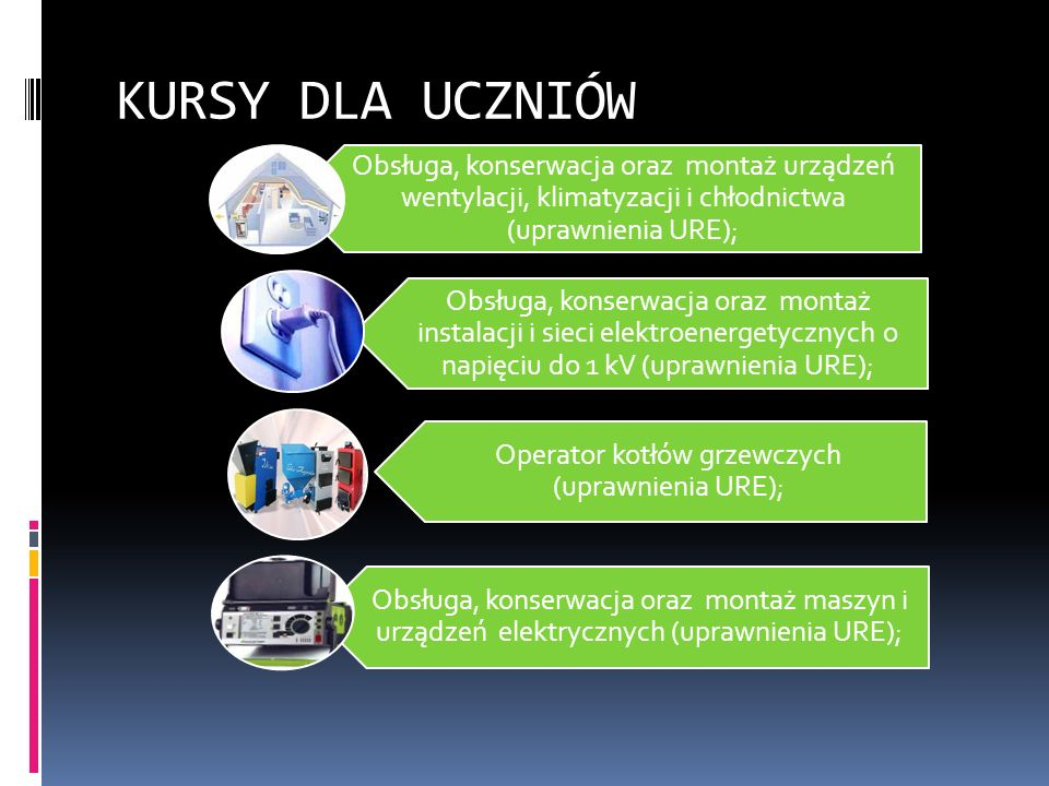 Operator kotłów grzewczych (uprawnienia URE);
