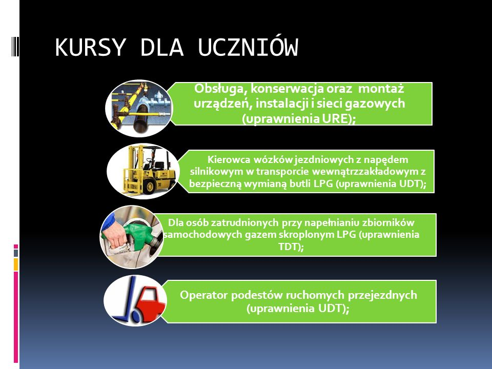 Operator podestów ruchomych przejezdnych (uprawnienia UDT);