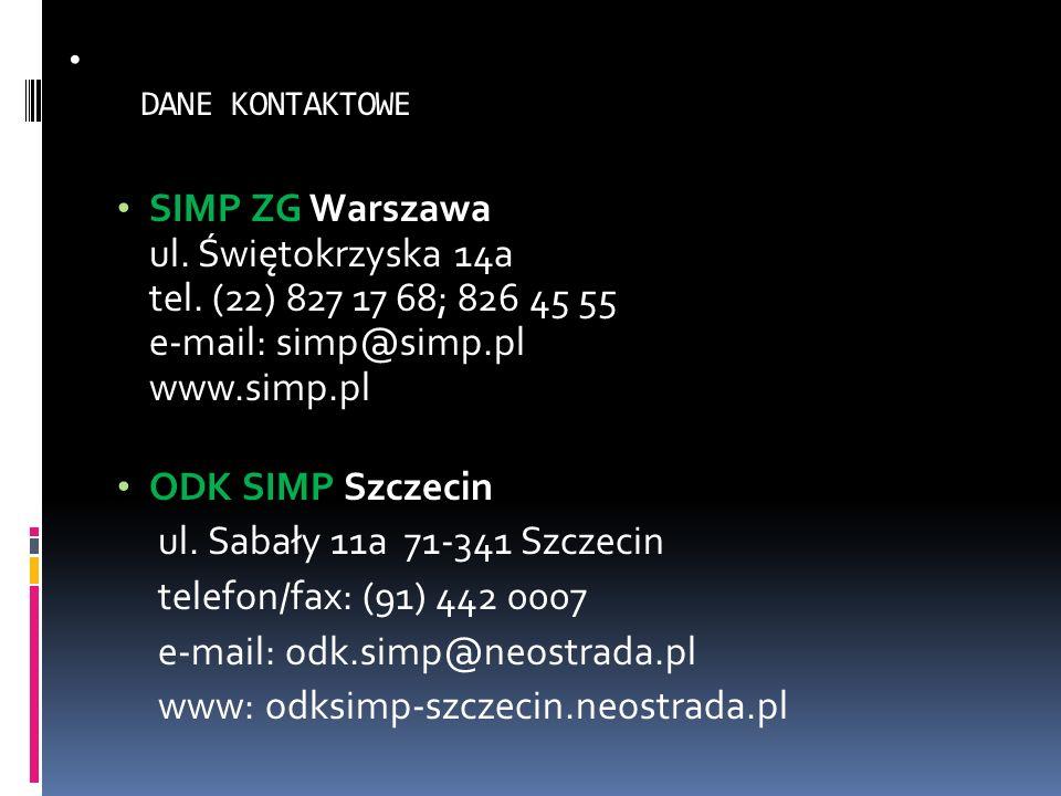 e-mail: odk.simp@neostrada.pl www: odksimp-szczecin.neostrada.pl