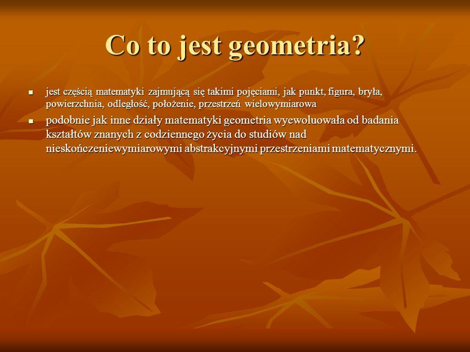 Co to jest geometria
