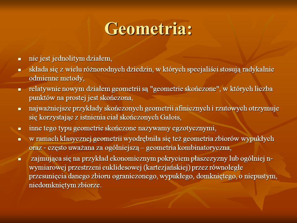 Geometria: nie jest jednolitym działem,
