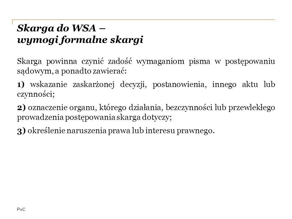 Skarga do WSA – wymogi formalne skargi
