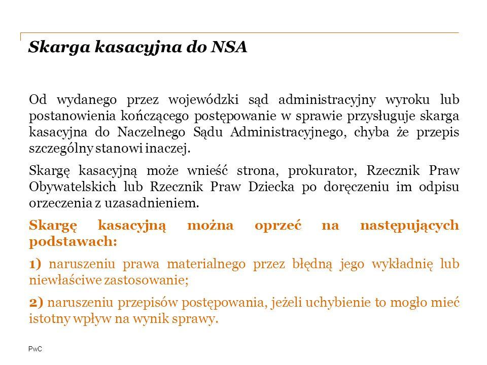 Skarga kasacyjna do NSA