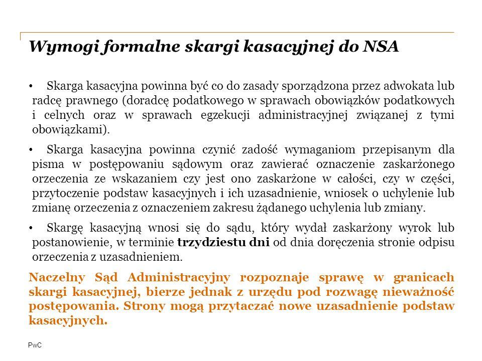 Wymogi formalne skargi kasacyjnej do NSA