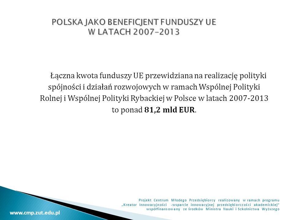 POLSKA JAKO BENEFICJENT FUNDUSZY UE W LATACH 2007-2013