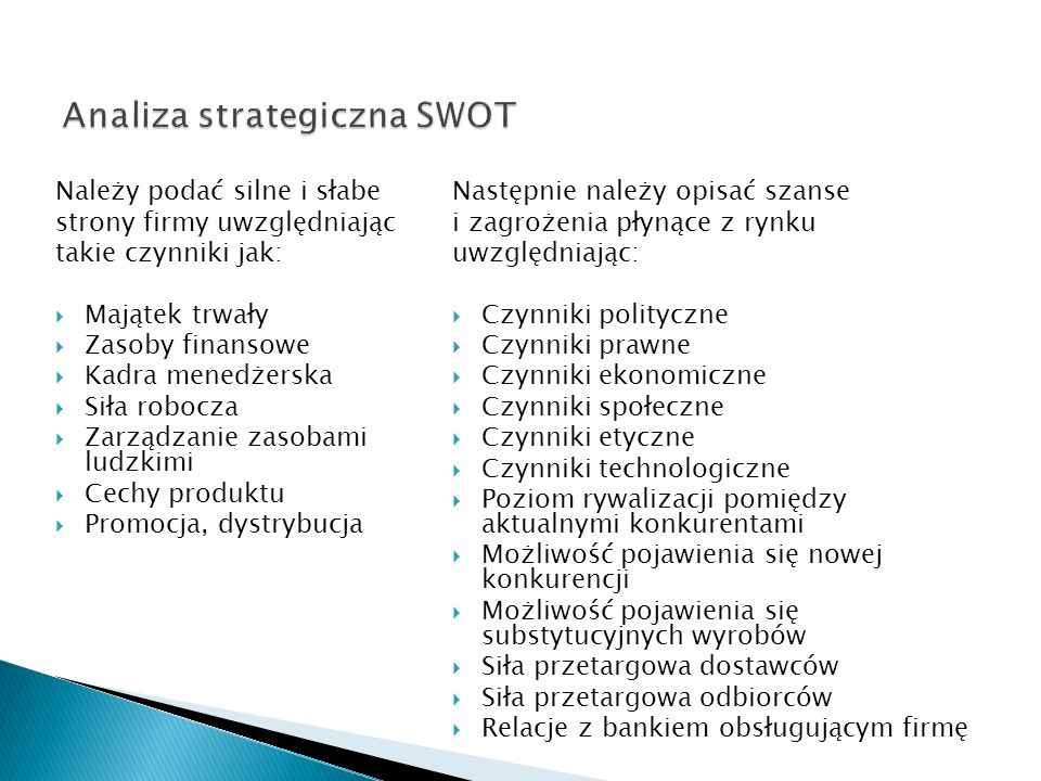 Analiza strategiczna SWOT