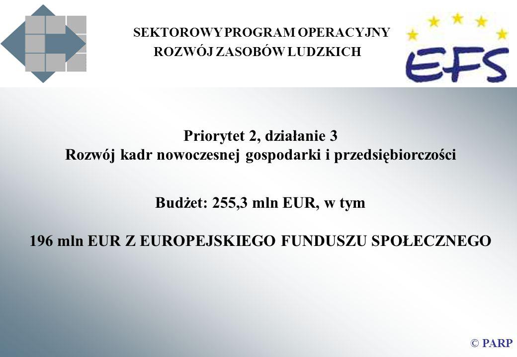 196 mln EUR Z EUROPEJSKIEGO FUNDUSZU SPOŁECZNEGO