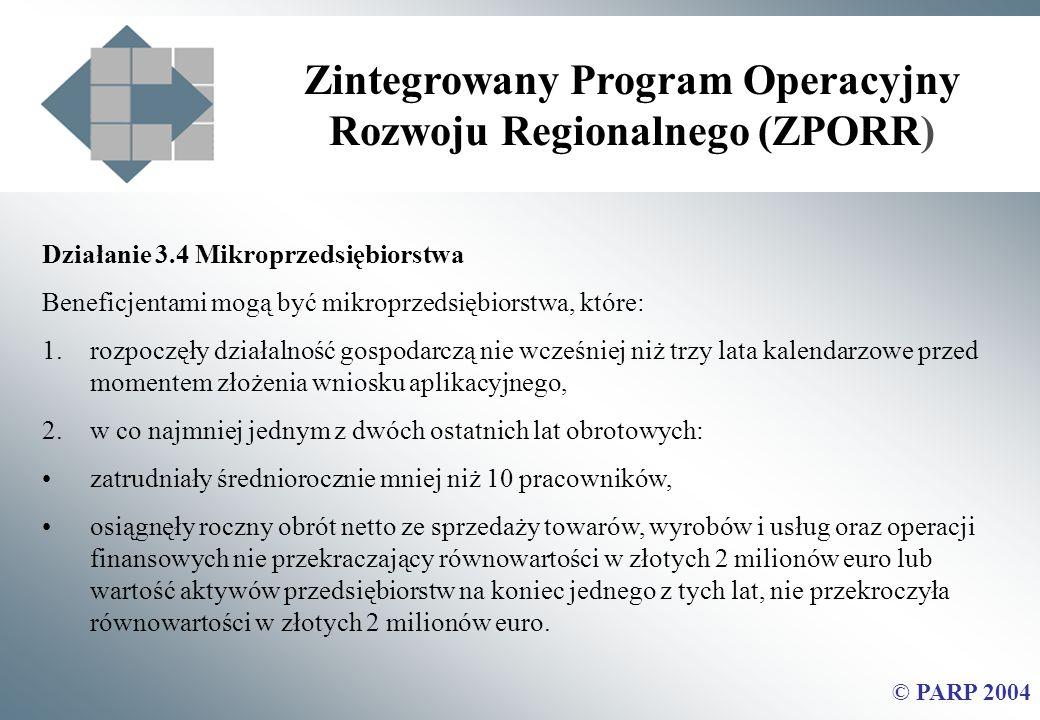 Zintegrowany Program Operacyjny Rozwoju Regionalnego (ZPORR)