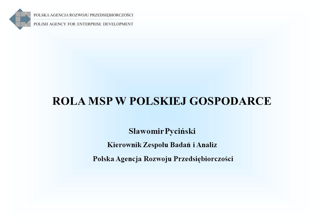 ROLA MSP W POLSKIEJ GOSPODARCE