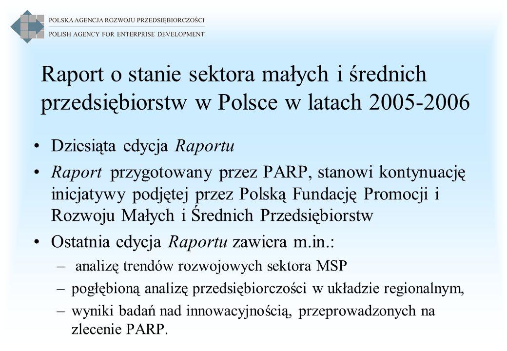 Raport o stanie sektora małych i średnich przedsiębiorstw w Polsce w latach 2005-2006