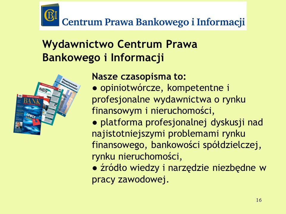Wydawnictwo Centrum Prawa Bankowego i Informacji