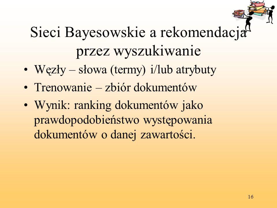 Sieci Bayesowskie a rekomendacja przez wyszukiwanie