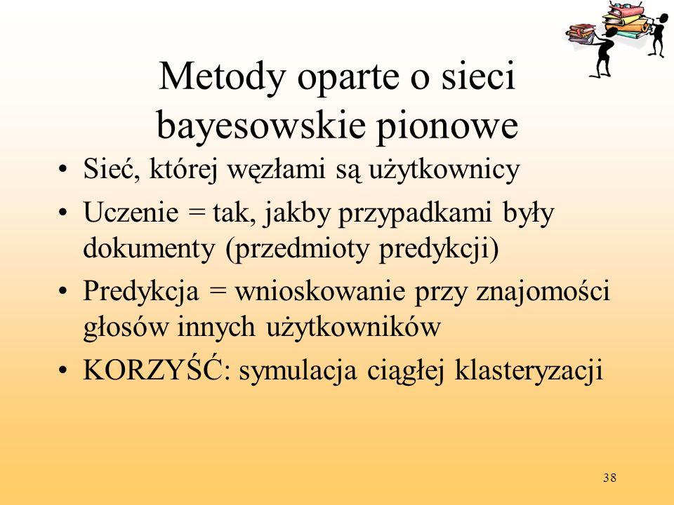 Metody oparte o sieci bayesowskie pionowe