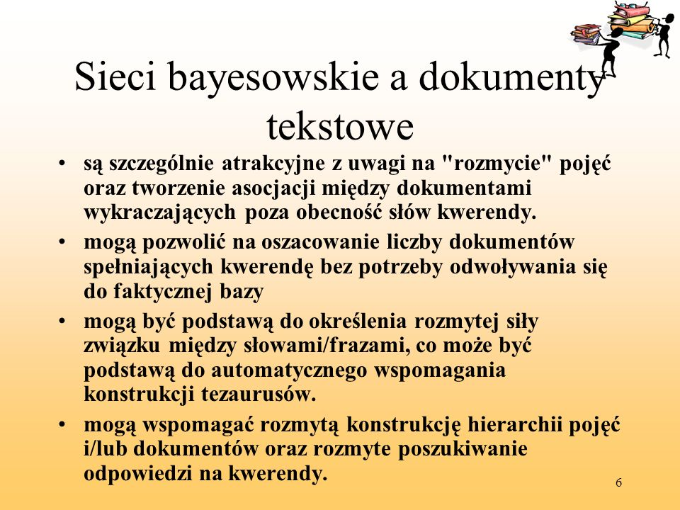 Sieci bayesowskie a dokumenty tekstowe