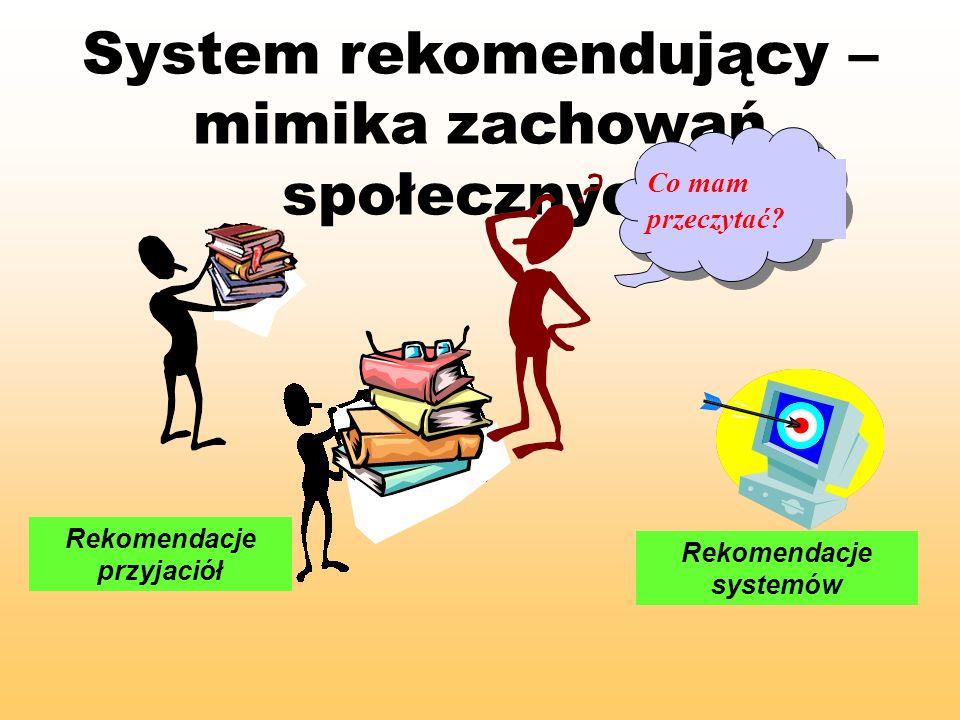 Rekomendacje przyjaciół Rekomendacje systemów
