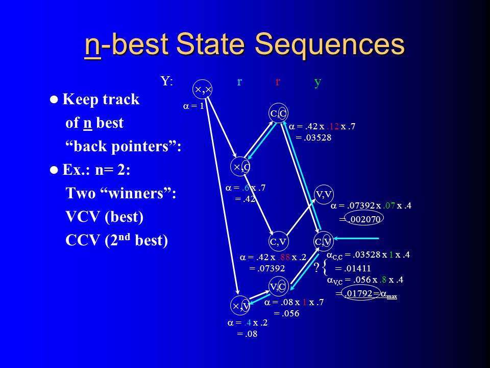 n-best State Sequences