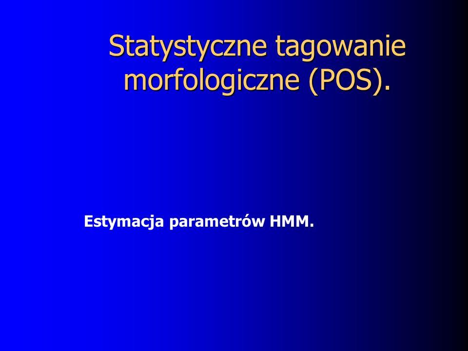 Statystyczne tagowanie morfologiczne (POS).