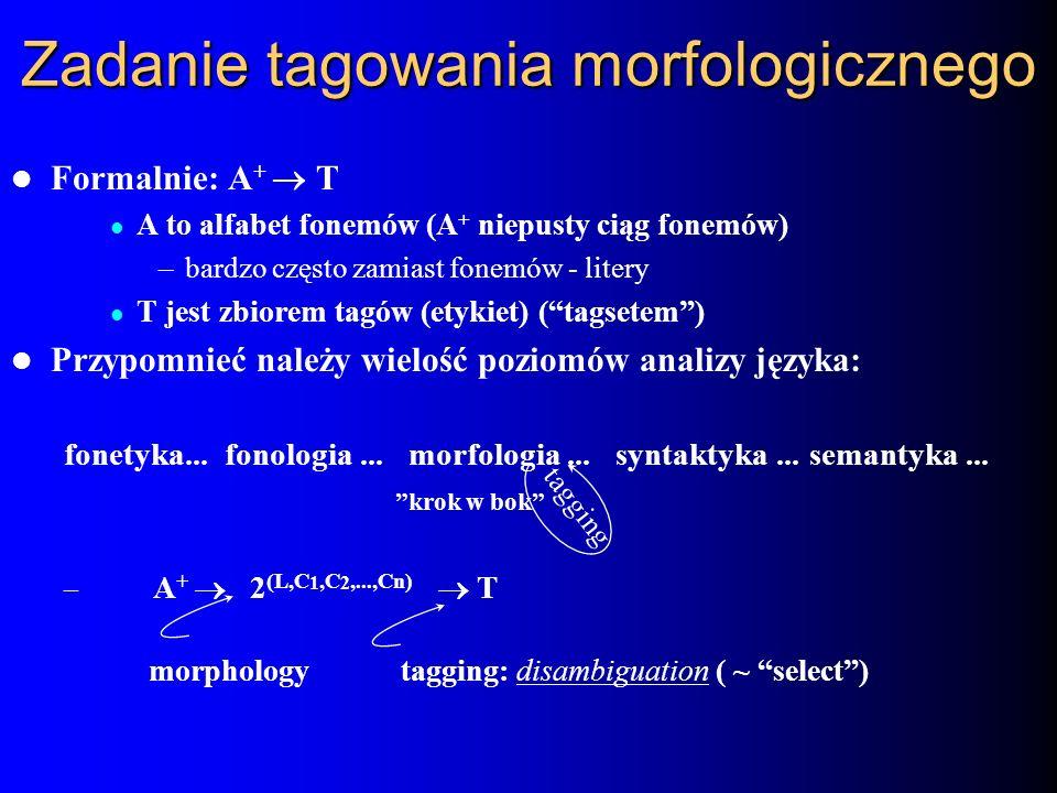 Zadanie tagowania morfologicznego