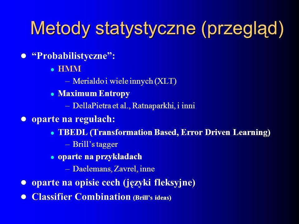 Metody statystyczne (przegląd)