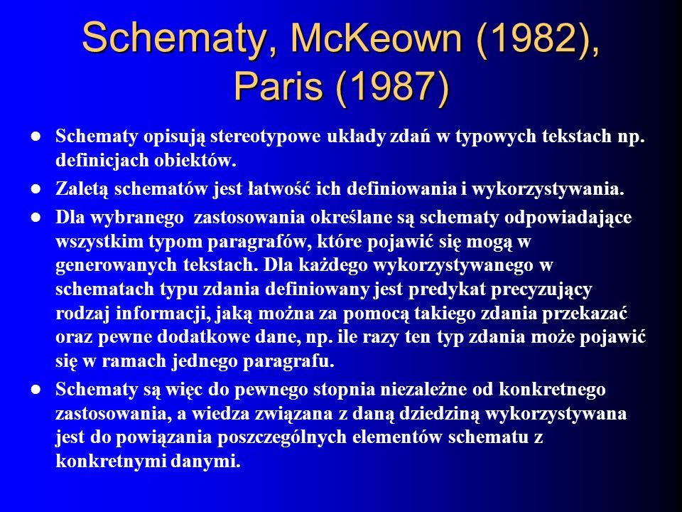 Schematy, McKeown (1982), Paris (1987)