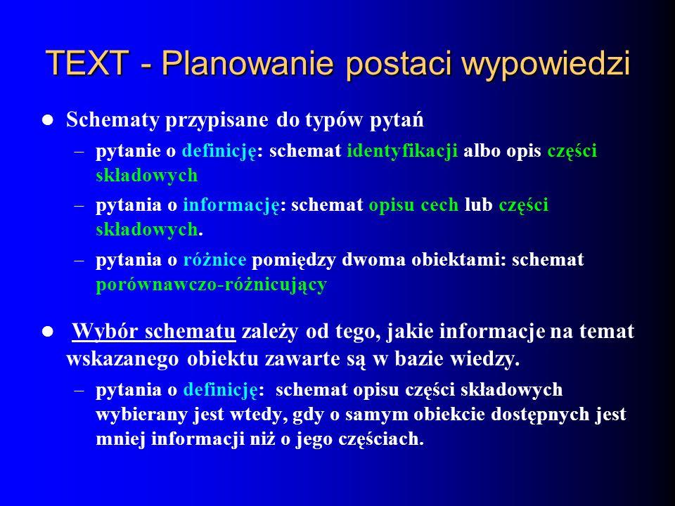 TEXT - Planowanie postaci wypowiedzi
