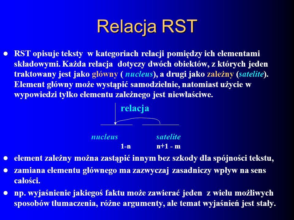Relacja RST relacja nucleus satelite