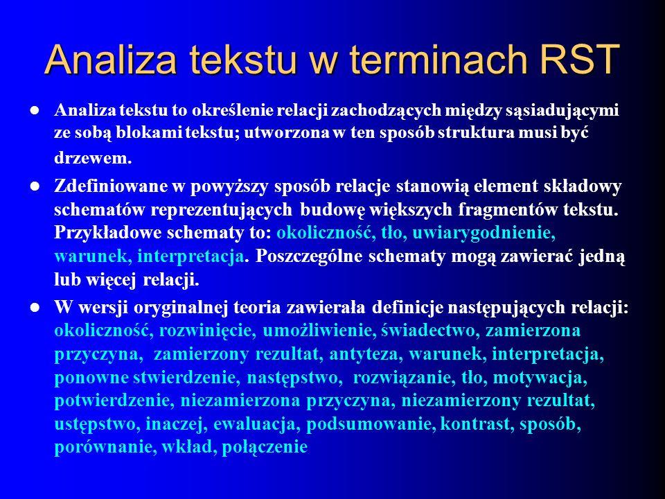 Analiza tekstu w terminach RST