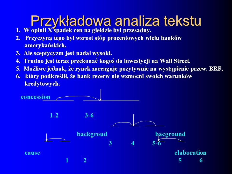 Przykładowa analiza tekstu