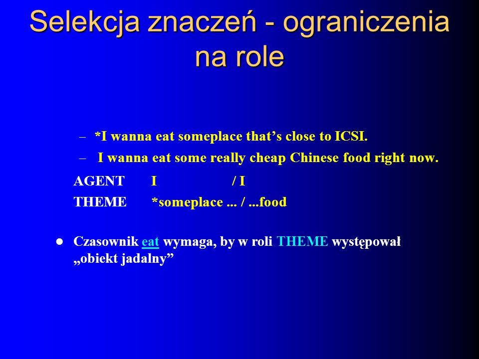 Selekcja znaczeń - ograniczenia na role