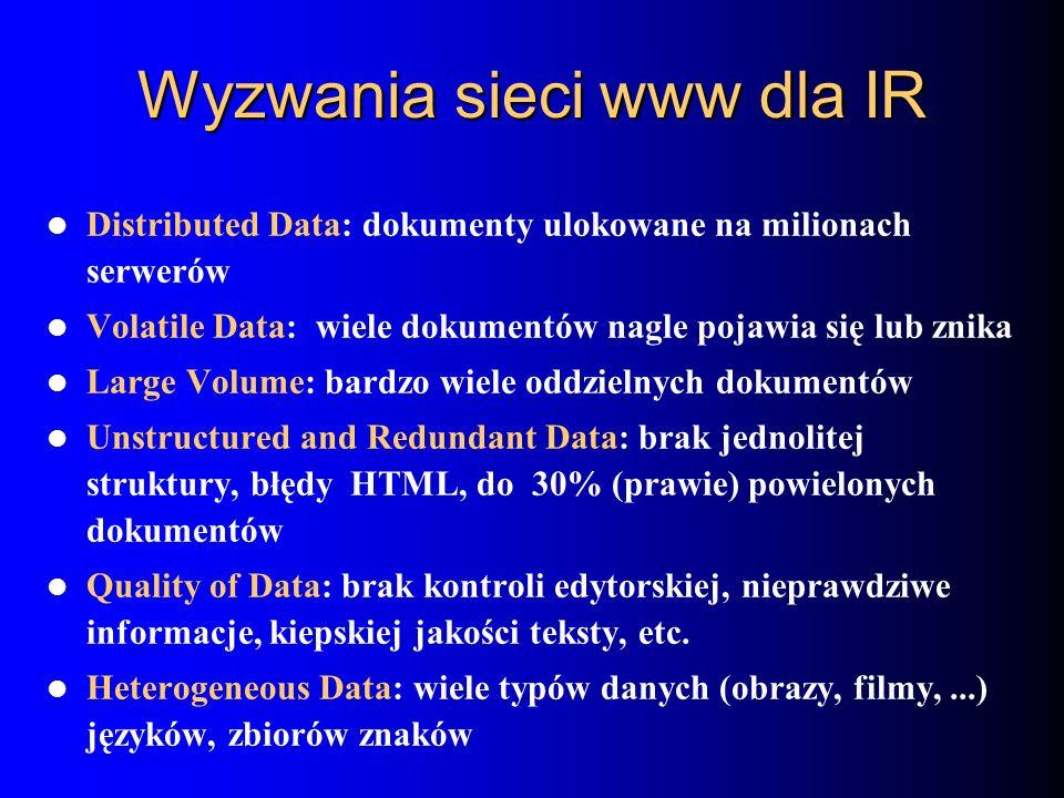 Wyzwania sieci www dla IR