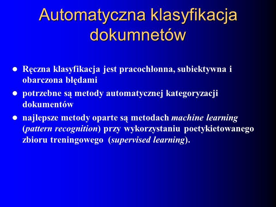 Automatyczna klasyfikacja dokumnetów