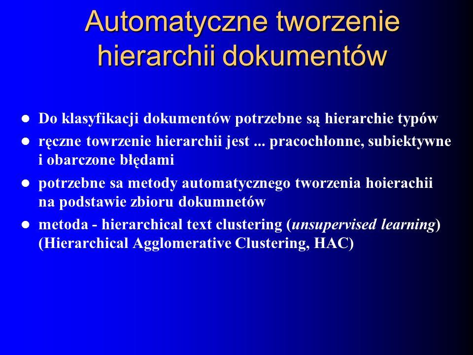 Automatyczne tworzenie hierarchii dokumentów