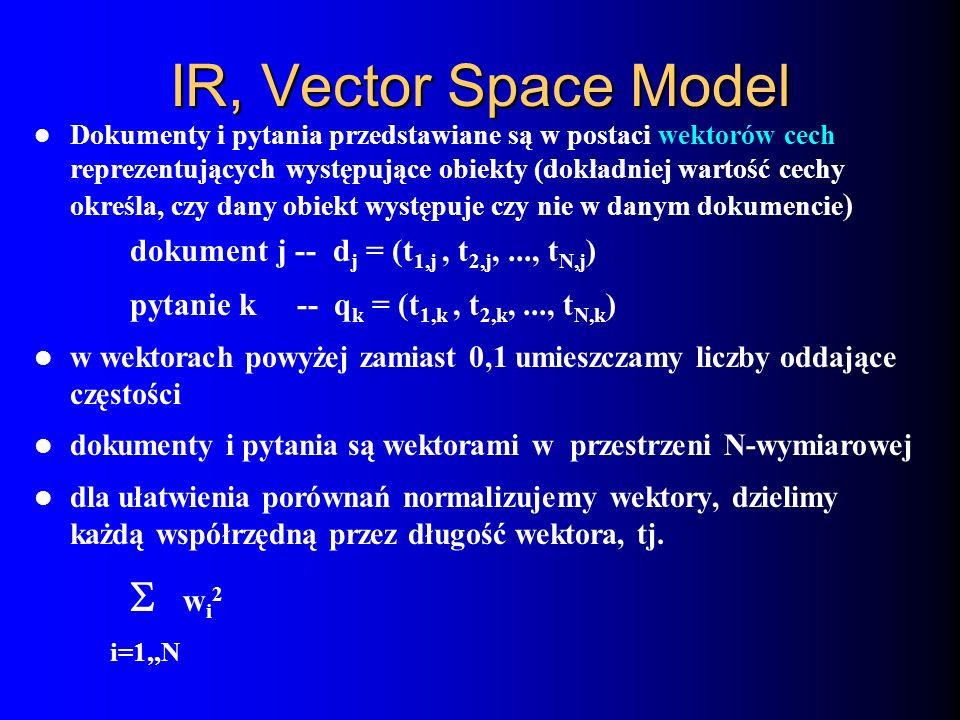 IR, Vector Space Model  wi2
